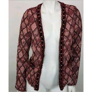 Maison Scotch Soda Blazer Jacket Rose Tapestry